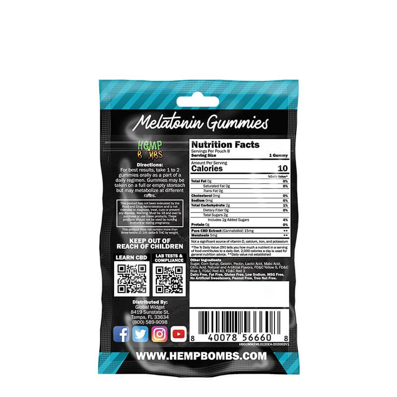 CBD Gummies with Melatonin 8-Count