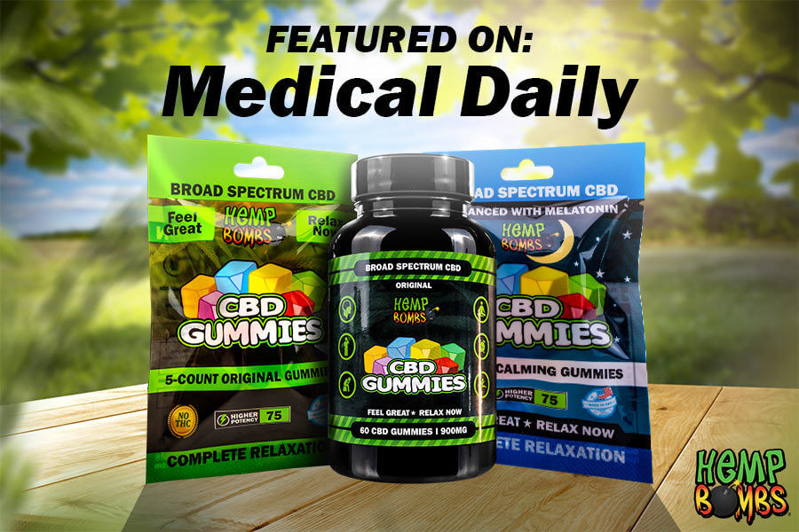 Hemp Bombs CBD Featured on Medical Daily - In the News