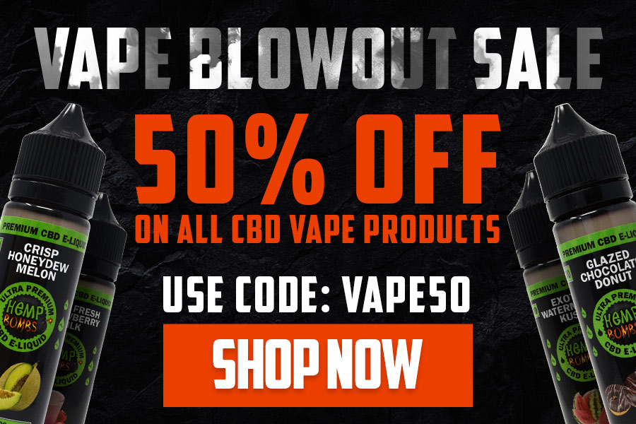 CBD Vape Sale 50% Off Promo Code: VAPE50