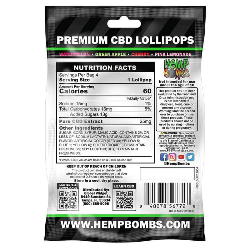 CBD Lollipops Four Pack
