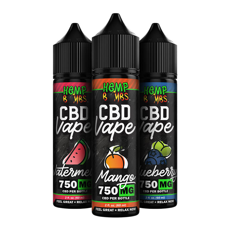 750mg CBD E-Liquid All Flavors