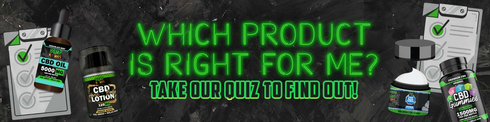Hemp Bombs CBD Product Finder Quiz