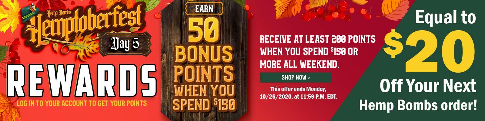 CBD Loyalty Program Point Bonus