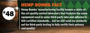 About CBD Company Hemp Bombs Quality Control
