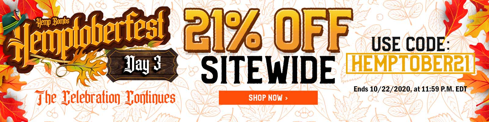 Hemptoberfest CBD Sale 21% Off Code: HEMPTOBER21