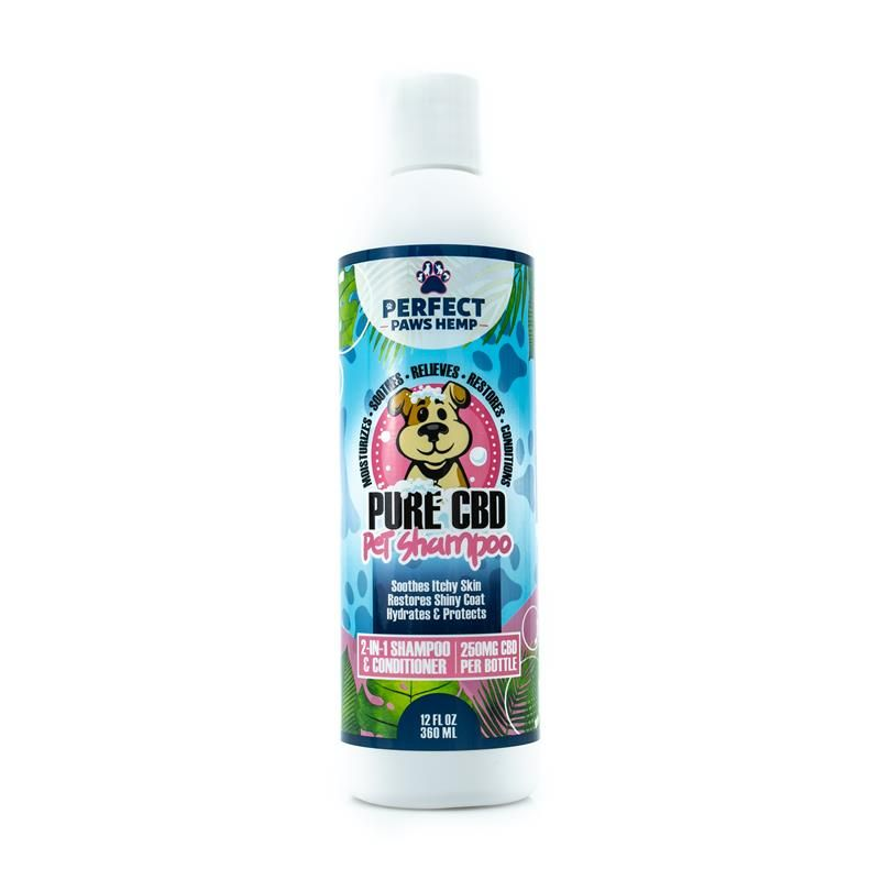 Perfect Paws Hemp CBD Pet Shampoo and Conditioner front