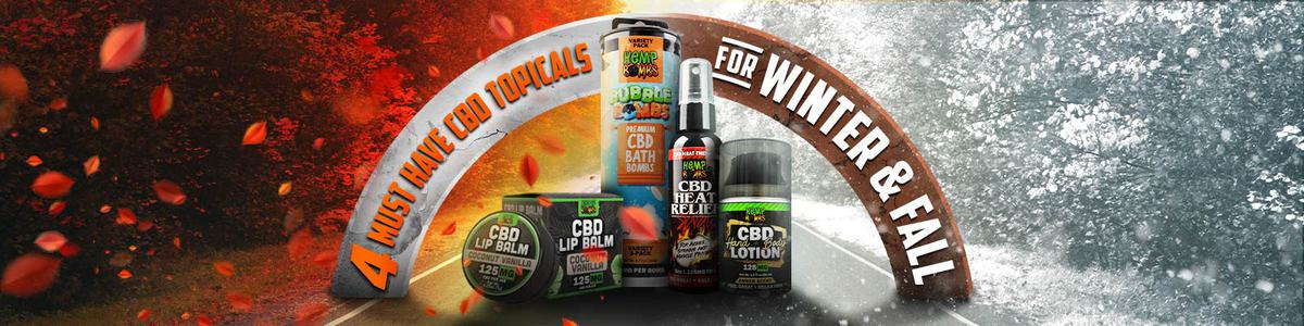 Must-Have CBD Topicals for Fall Banner