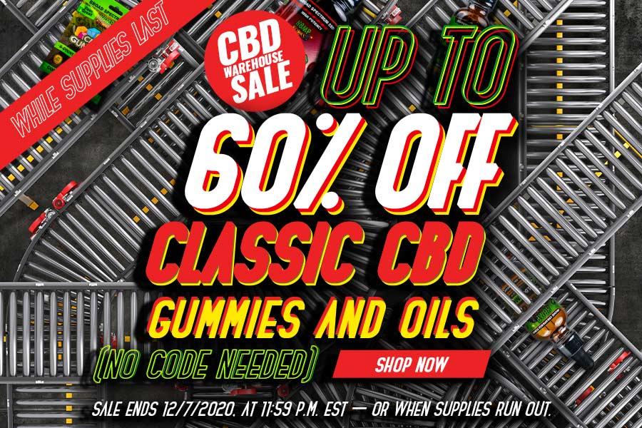 CBD Products Warehouse Sale