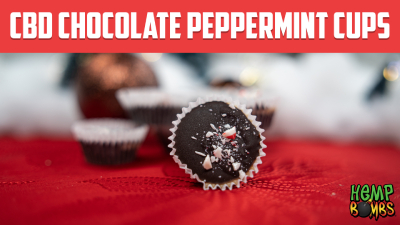 CBD Oil Recipe - Chocolate Peppermint Cups