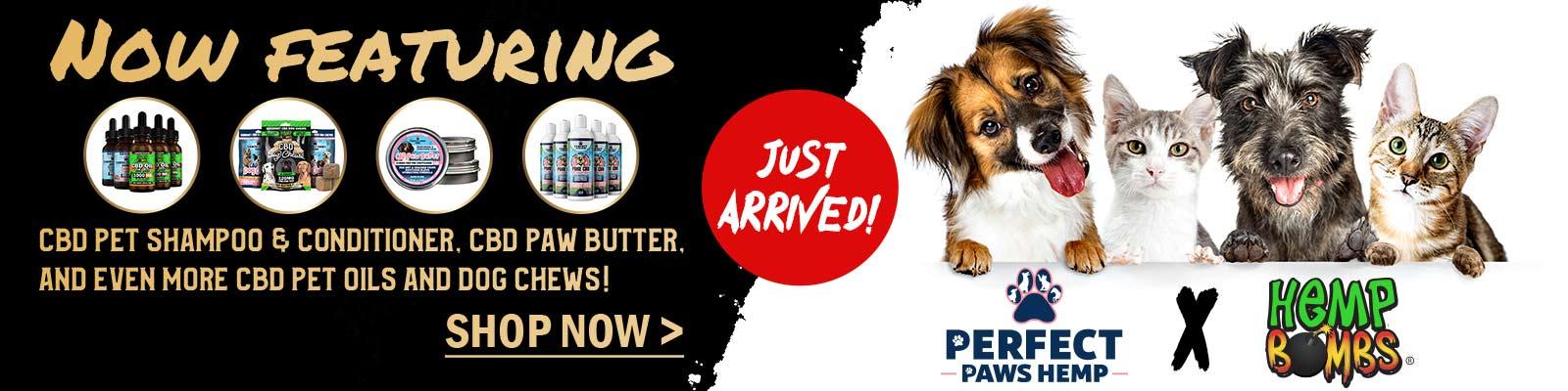 CBD Pet Products on Hemp Bombs