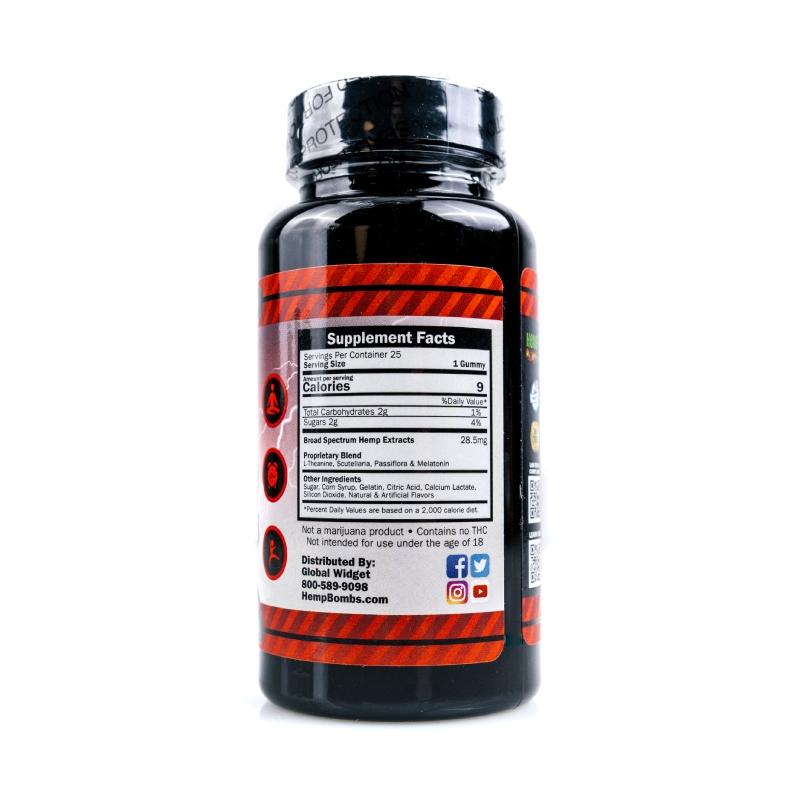 High Potency CBD Gummies 712mg 25ct right