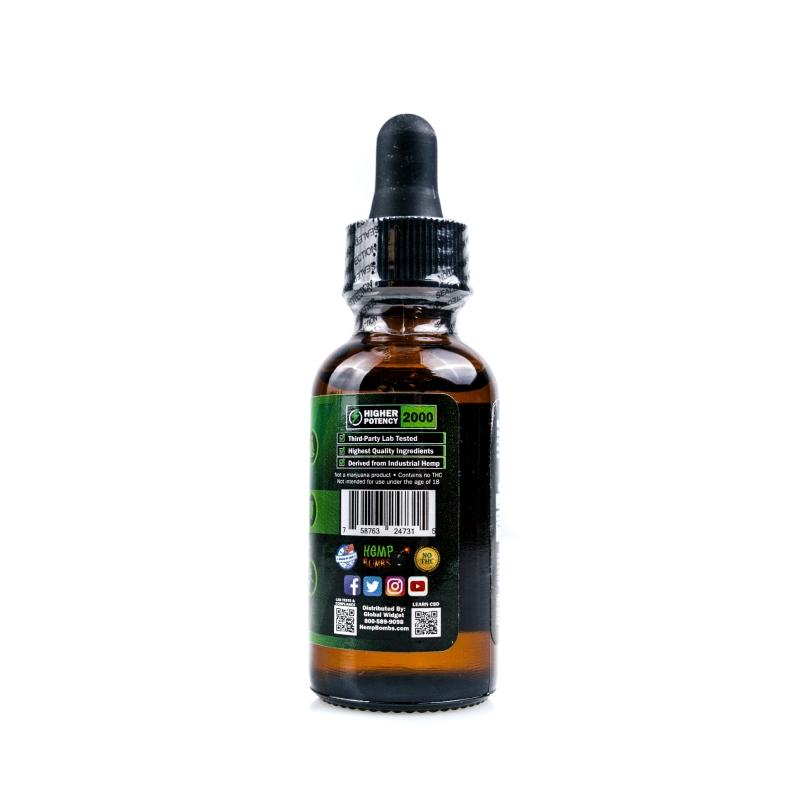 2000mg CBD Oil Peppermint right