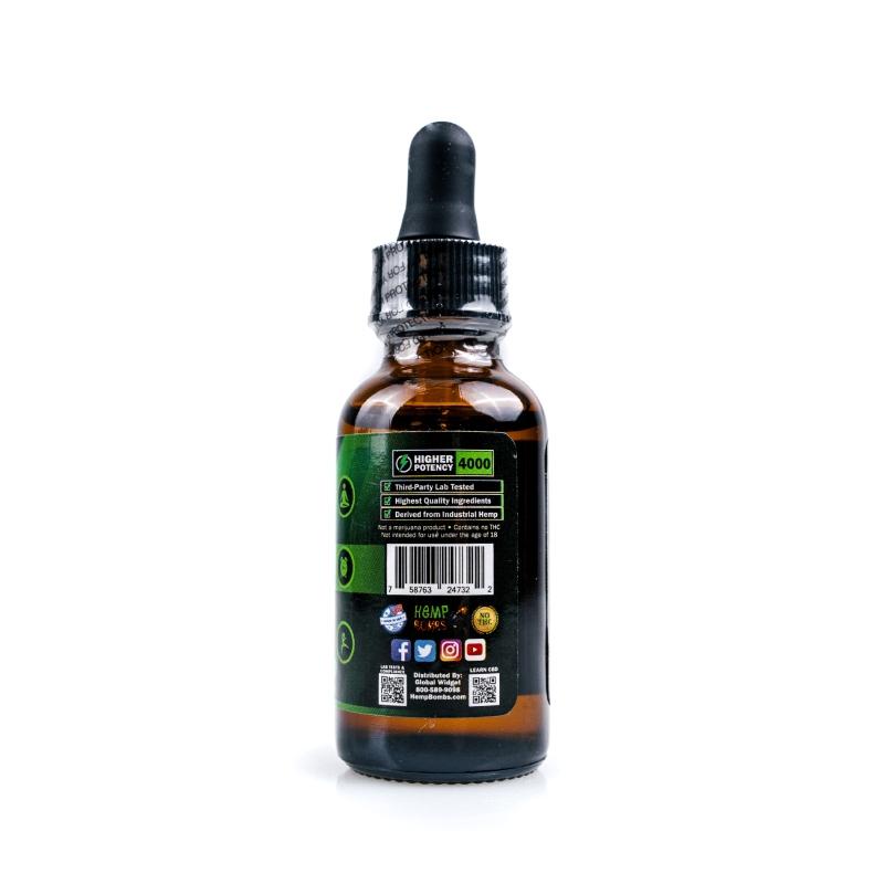4000mg CBD Oil Peppermint right