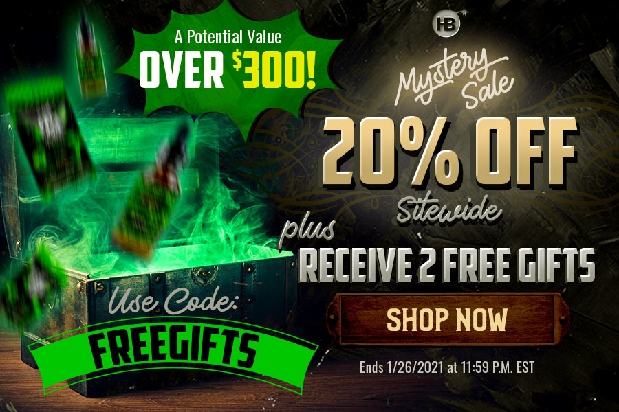 Hemp Bombs 20% Off Sale and 2 Free Gifts Mobile Banner