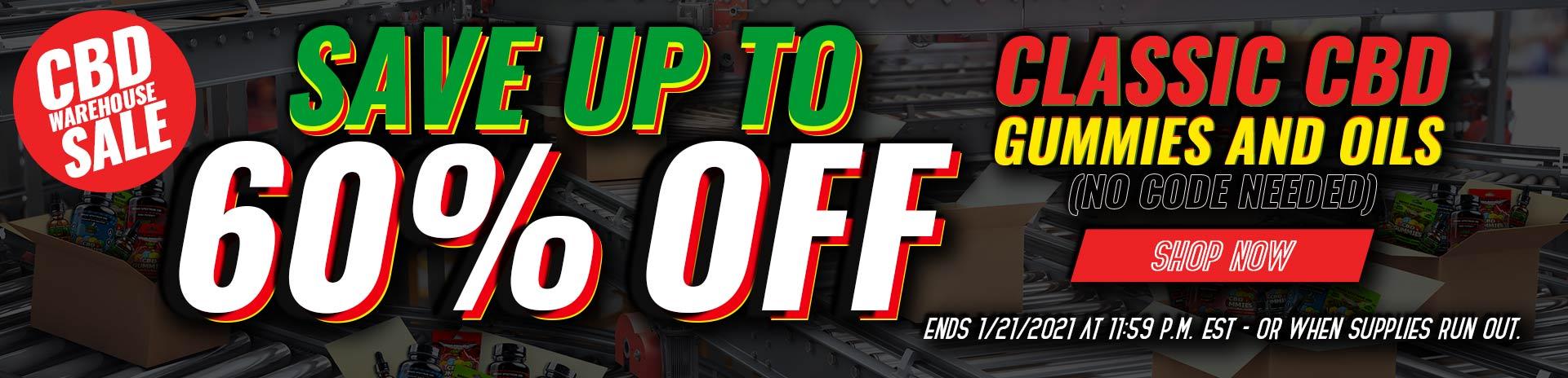Hemp Bombs Warehouse Sale Banner