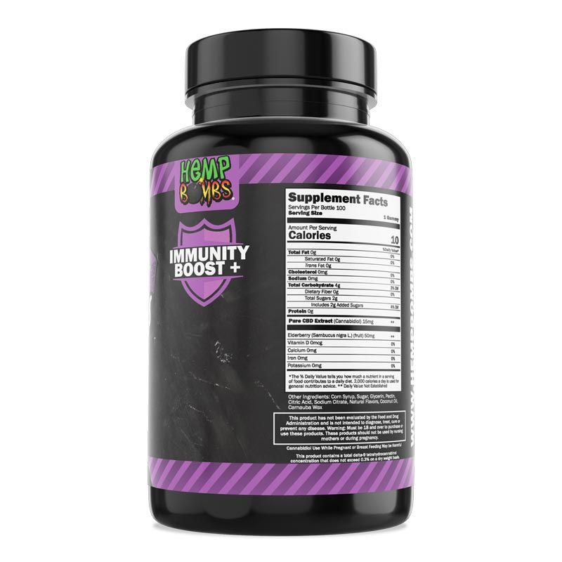 CBD Gummies Elderberry 100ct right