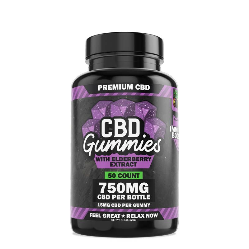 CBD Gummies Elderberry 50ct