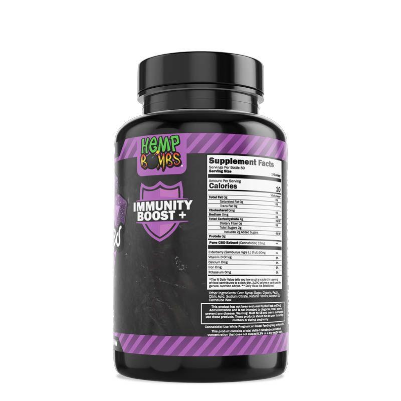 CBD Gummies Elderberry 50ct right