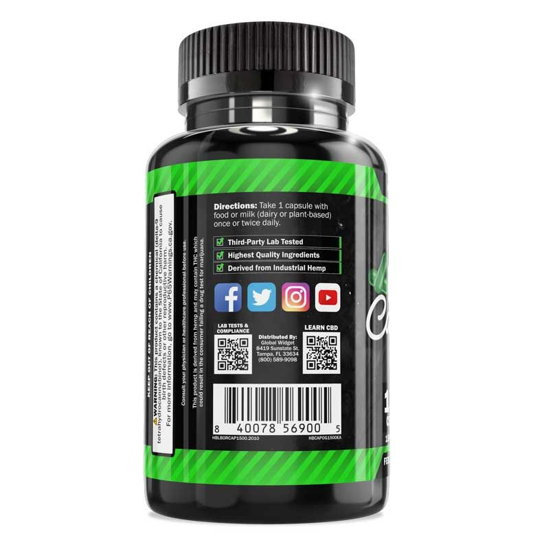 CBD Capsules 100-Count Left
