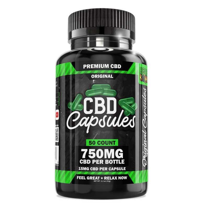 CBD Capsules 50-Count