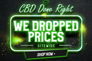 CBD Done Right We Dropped Prices Sitewide Mobile Banner
