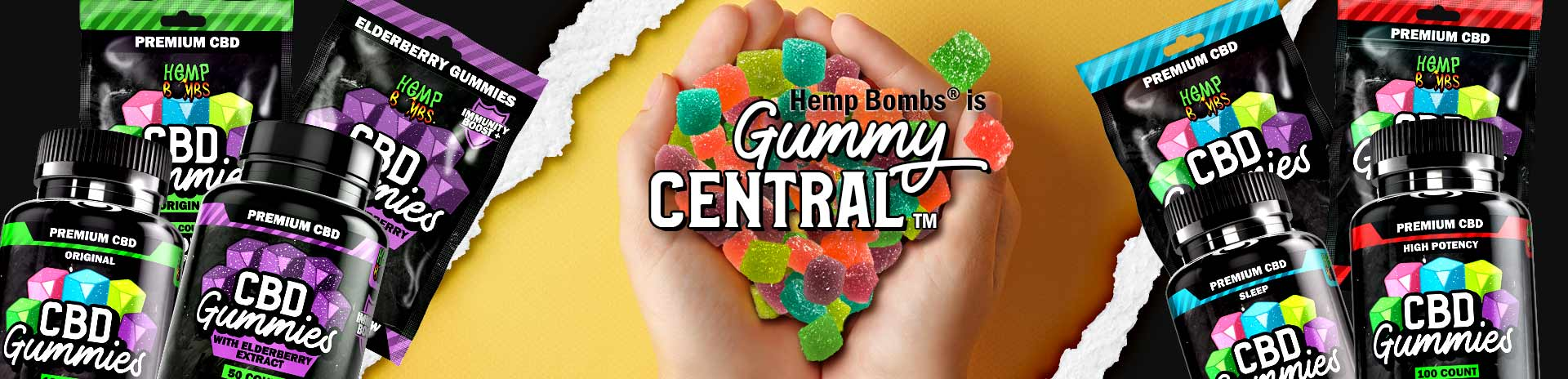 CBD Gummies - Hemp Bombs is Gummy Central
