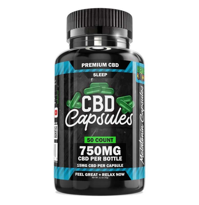 CBD Sleep Capsules 50-Count