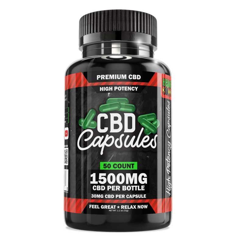 High Potency CBD Capsules 50-Count