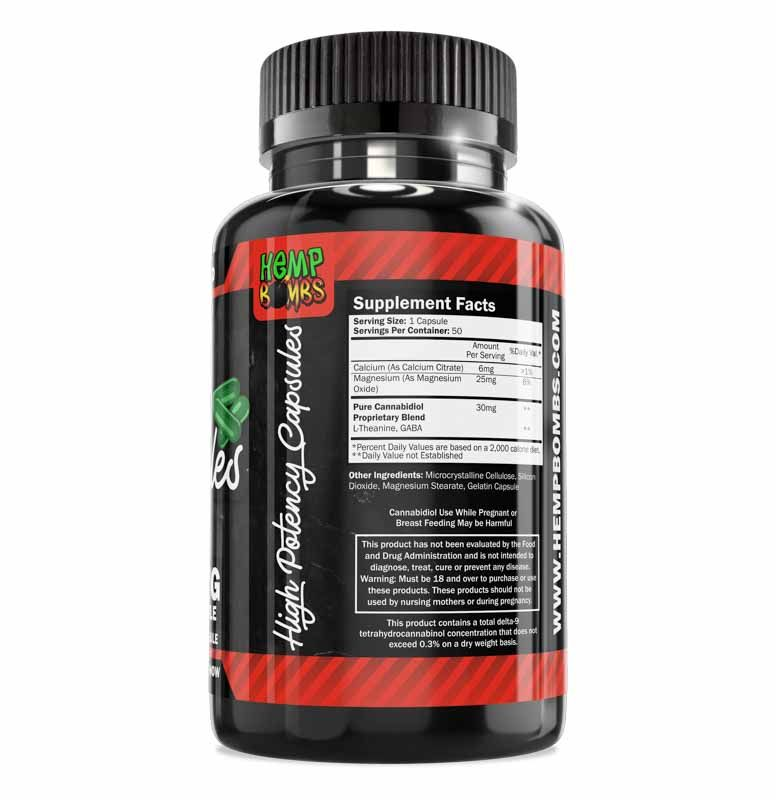 High Potency CBD Capsules 50-Count Right