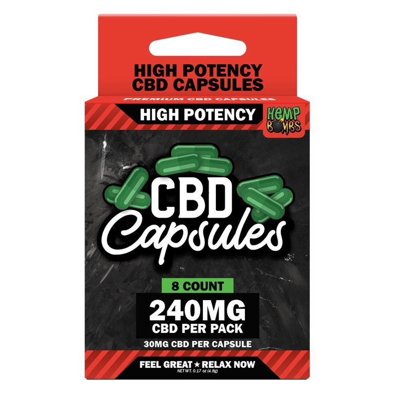 High Potency CBD Capsules 8-Count