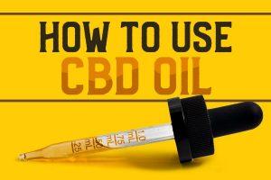 how to use cbd oil three ways