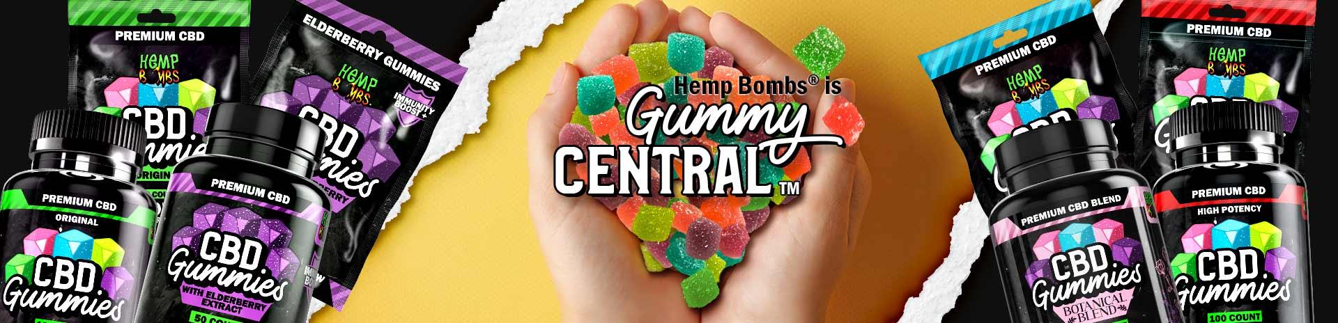 CBD Gummies Central Banner
