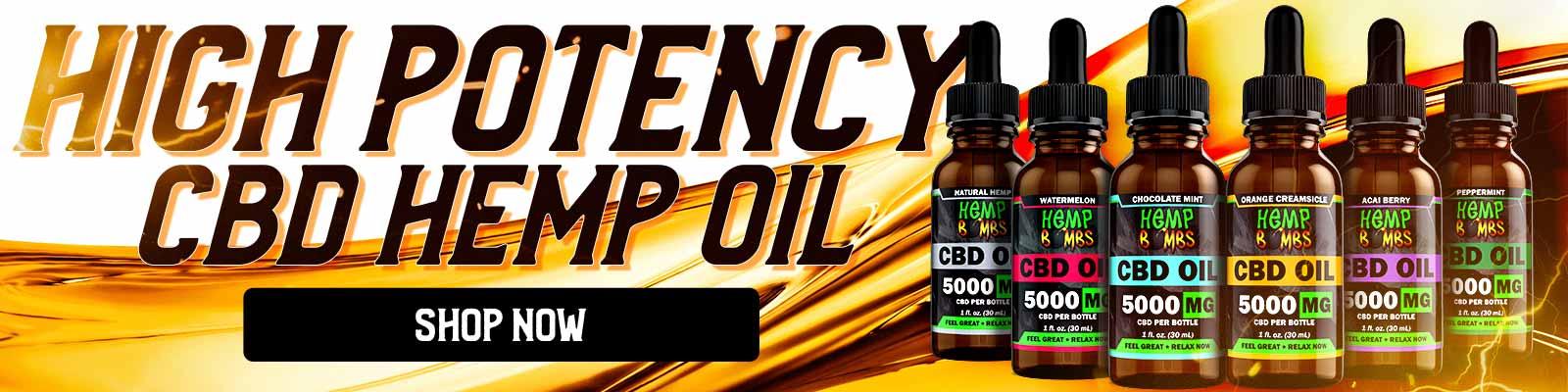 High Potency CBD Hemp Oil Banner