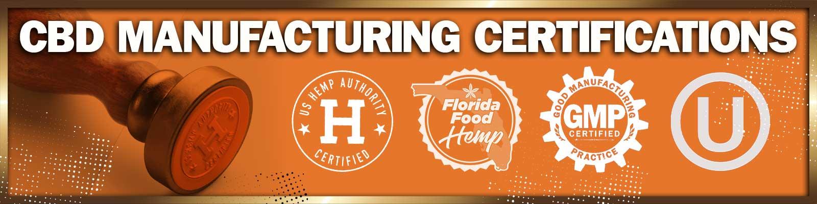 CBD Manufacturing Certifications