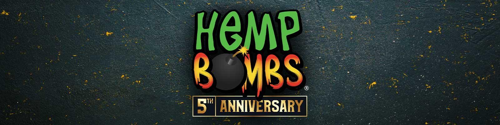 Hemp Bombs 5-Year Anniversary Banner